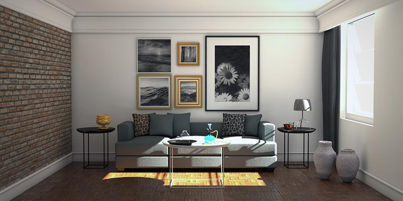 Минималистичный диван в гостиной