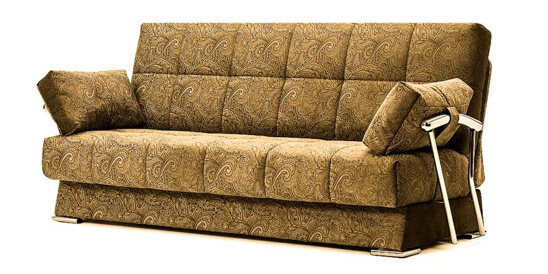диван, хромированные элементы