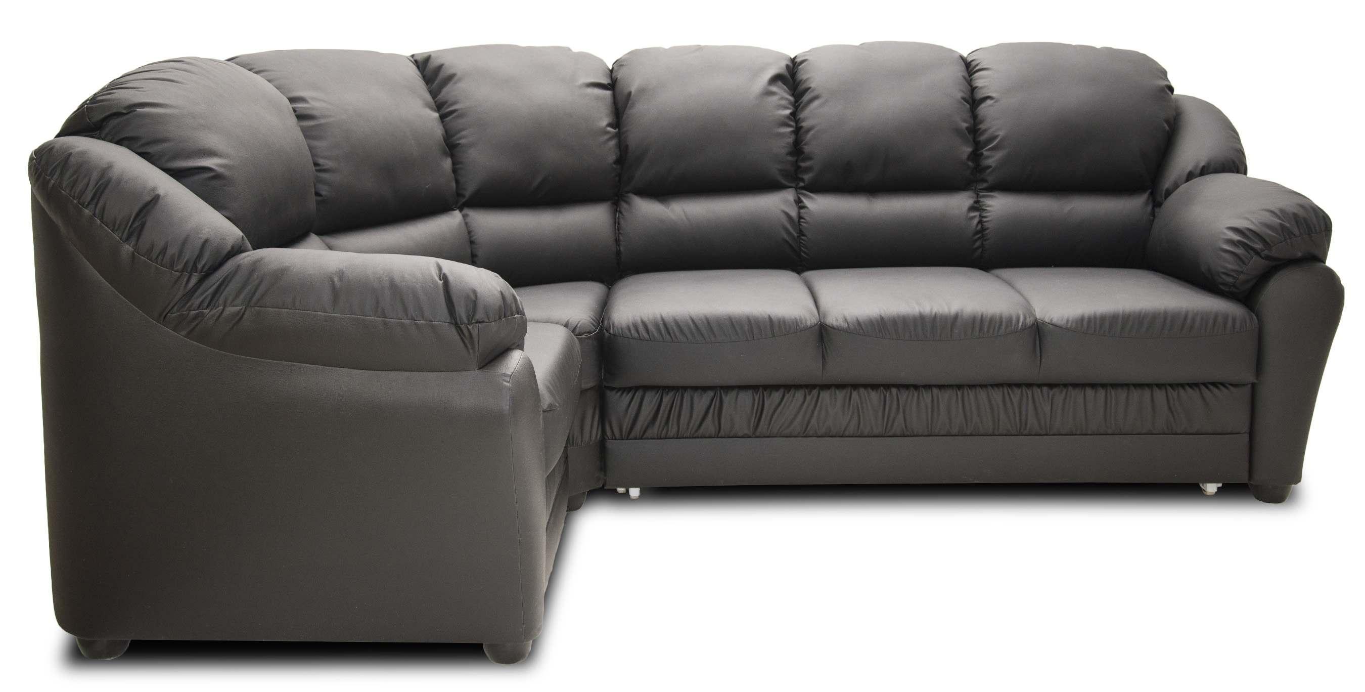 бруно диван угловой кожаный черный материал обивки кожа купить